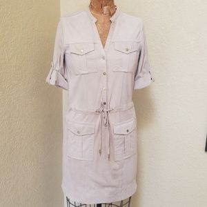 NWT VINTAGE MICHAEL KORS LAMB SUEDE SHIRT DRESS XS